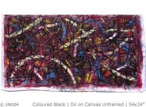 Coloured Black, 2006 | Oil on Canvas Unstretched | 54x34